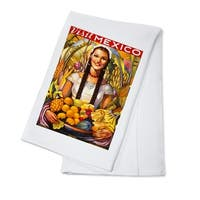 Visit Mexico - Vintage Poster (100% Cotton Towel Absorbent)