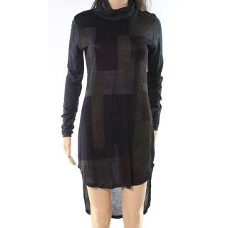 Go Couture Black Womens Size Medium M Turtleneck Sweater Dress