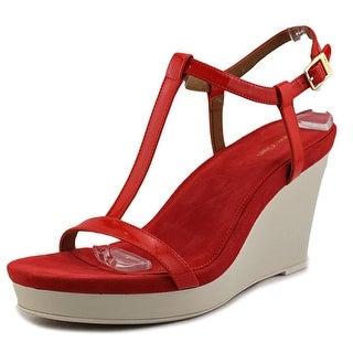 Calvin Klein Jiselle Women Open Toe Leather Wedge Sandal
