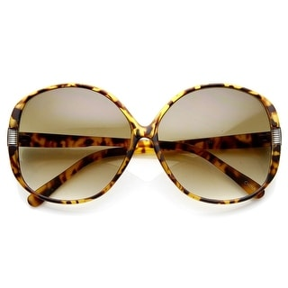 Link to Womens Fashion Metal Accent Round Oversized Sunglasses Similar Items in Women's Sunglasses
