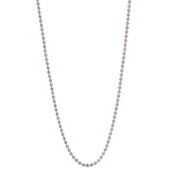 925 Sterling Silver Italian MoonBall-Cut Chain