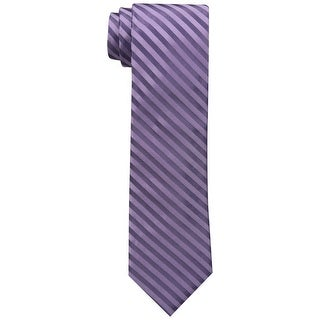Calvin Klein Purple Men's One Size Satin Sheen Mini Bar Neck Tie