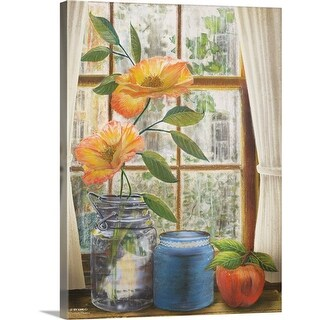"""Afternoon Flowers"" Canvas Wall Art"