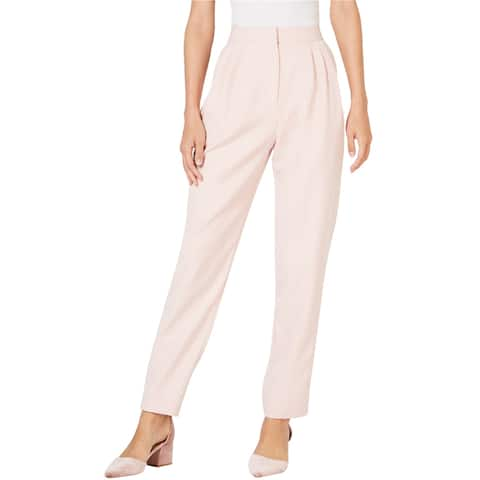 Leyden Womens Satin Striped Dress Pant Trousers