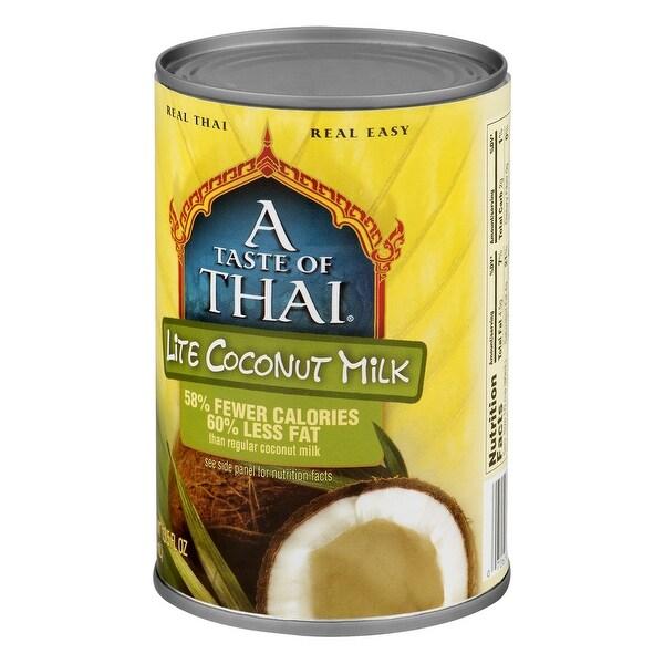 Taste of Thai Coconut Milk - Lite - Case of 12 - 13.5 Fl oz.