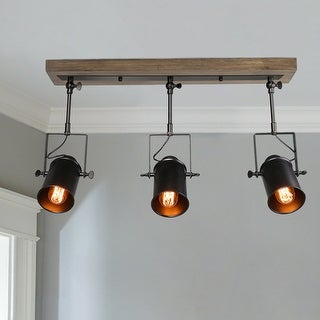 Link to The Gray Barn Hickory Place Black 3-lights Semi-Flush Mount Ceiling Track Spotlights Lighting for Living Room Similar Items in Track Lighting