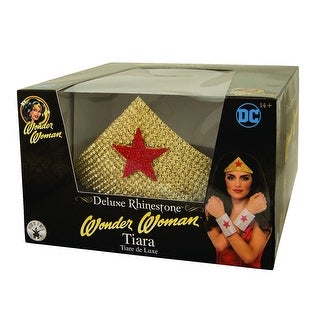 Adult Wonder Woman Tiara Rhinestone Crown - standard - one size
