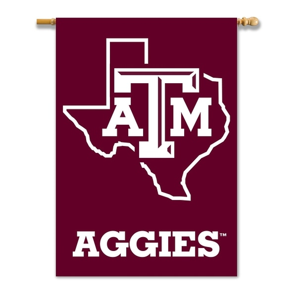 NCAA Texas A/&M Aggies 2-Sided 28-by-40 inch House Banner with  Pole Sleeve