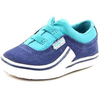 Puma Villian S Kids Youth Round Toe Suede Blue Sneakers