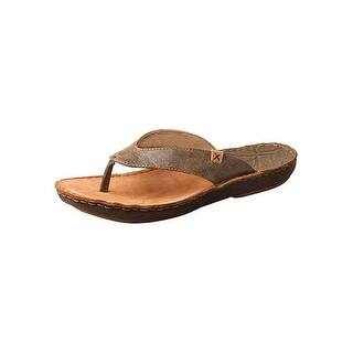 5d57704e79651 Twisted X Shoes Mens Sandals Flip Flop Leather Stitched Bomber