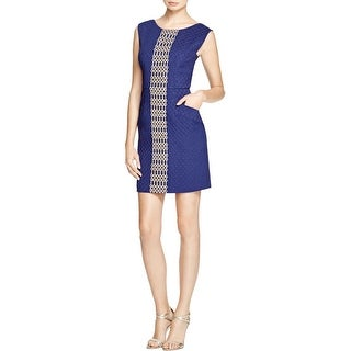 Tracy Reese Womens Semi-Formal Dress Embroidered Quilted