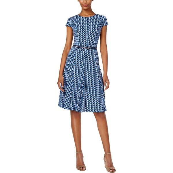 Jessica Howard Womens Petites Wear to Work Dress Pattern A-line - 8P