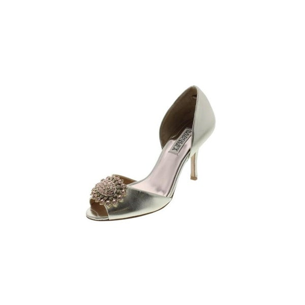 Badgley Mischka Womens Lacie D'Orsay Heels Jeweled