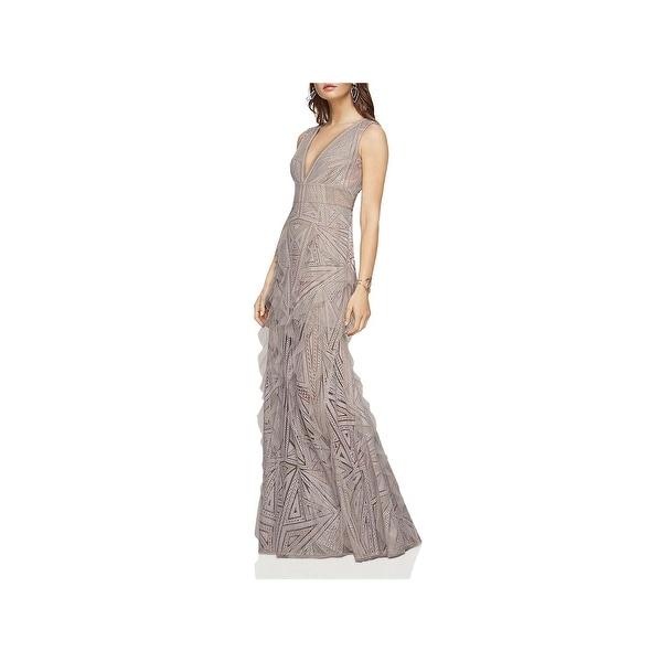 1f28091d3098 Shop BCBG Max Azria Womens Aislinn Evening Dress Ruffled Lace - Free ...