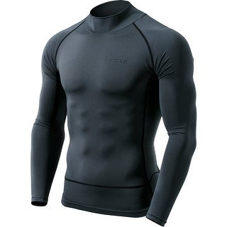 Tesla MUT72 Cool Dry Long Sleeve Compression Shirt - Charcoal/Black