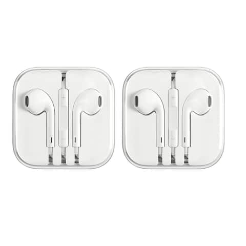 Apple Earpods 3.5 mm with Remote and Microphone 2 Pack in Bulk Packaging Refurbished - Grey