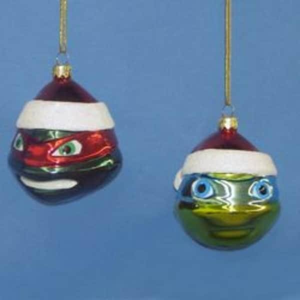 """3"""" Teenage Mutant Ninja Turtles Glass Leonardo Christmas Ornament"""