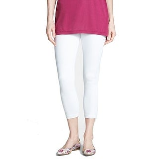 HUE NEW Bright White Women's Size XL Seamed Cropped Jegging Pants