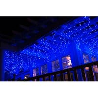 TORCHSTAR 16.4ft Christmas LED Icicle Lights for Holiday, Blue