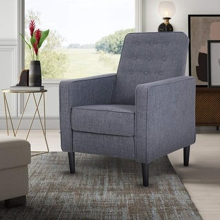 Link to ALPHA HOME Recliner Chair for Elderly Reclining Wing Back Sofa for Living Room Fabric Upholstered Single Lounge Glider Chair Similar Items in Living Room Furniture