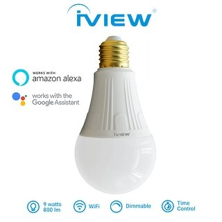 New 900lm IVIEW-ISB800 Smart WiFi LED Light Bulb, Multi-color, Dimmable, No Hub Required, Free APP Remote Control
