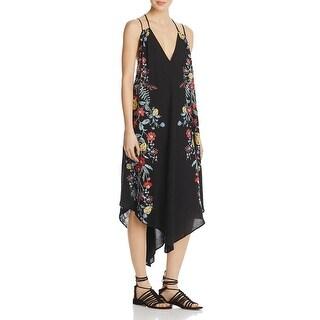 Free People Womens Ashbury Slip Dress Pindot Floral Print