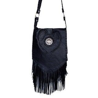 Scully Western Handbag Womens Fringe Leather Cross Body Black B139 - One size