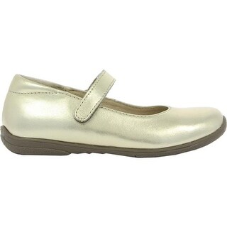 Umi Girls' Ria II Mary Jane Gold Leather