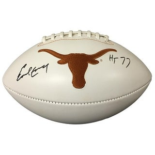 Earl Campbell Signed Texas Longhorns Logo Football HT 77 JSA