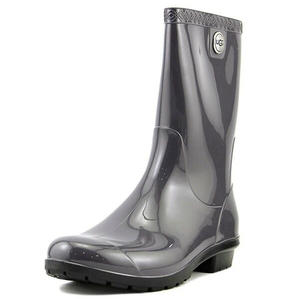 Ugg Australia W Sienna Women Round Toe Synthetic Gray Rain Boot
