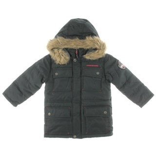 Big Chill Boys Fleece Lined Quilted Parka - 5