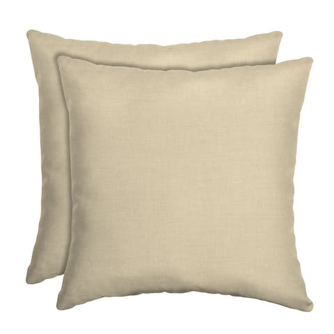 Arden Selections New Tan Leala Texture Toss Pillow (2-pack) - 16 in L x 16 in W x 5 in H