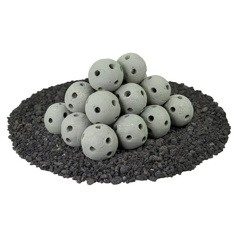Ceramic Fire Balls for Indoor & Outdoor Fire Pits or Fireplaces