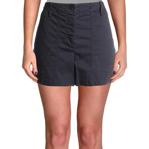 Theory Womens Cargo Shorts Button Fly High Rise