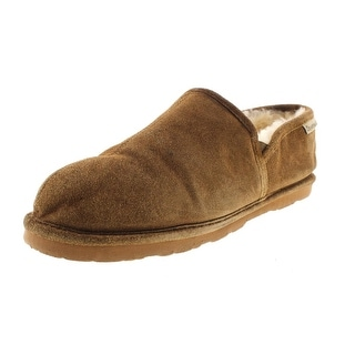 Bearpaw Mens Romeo II Clog Slippers Suede Sheepskin