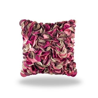100% Handmade Imported Impossibly Pretty Pillow Cover, Pastel Pink, Fuchsia & Taupe