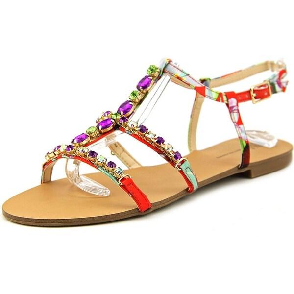 INC International Concepts Gypsiee Women Tangerine Multi Sandals