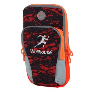 Wellhouse Authorized Training Double Pockets Holder Running Sports Arm Bag Red M