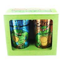 Teenage Mutant Ninja Turtles Leo & Mike Foil Print Pint Glass 2-Pack - Multi
