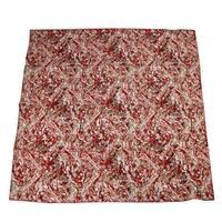 Bottega Veneta Women's Swirl Patterned Red White Black Silk Large Scarf 337765 6272