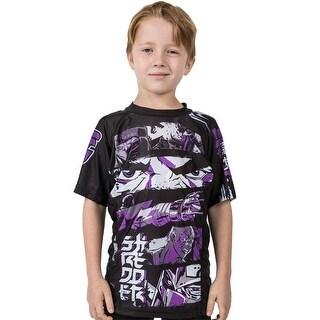 Fusion Fight Gear Kid's TMNT Shredder Short Sleeve Rashguard - L