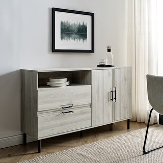 Link to Carbon Loft 56-inch Modern Asymmetrical Sideboard Similar Items in Media Cabinets