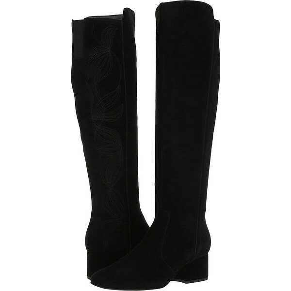 Marc Fisher Womens Tawanna Almond Toe Knee High Fashion Boots