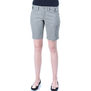 BEBOP Womens New 5214 Green Cargo, Bermuda Casual Short Juniors 1 B+B