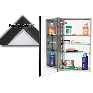 "Alno MC30244 3000 Series 15"" x 25"" Single Door Recessed Medicine Cabinet with Stainless Steel Interior and Traditional Framed (2 options available)"