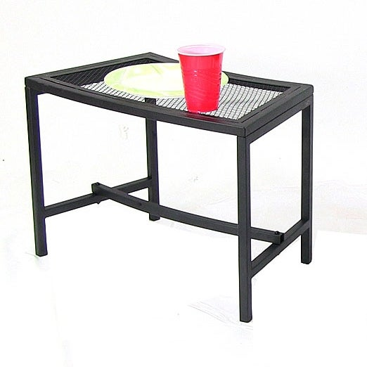 Charming Sunnydaze Black Mesh Patio Side Table   Multiple Quantities Available