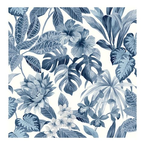 Josefa Blue Tropical Wallpaper - 20.5 x 396 x 0.025