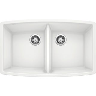 "Blanco 440071  Performa 33"" Undermount Double Basin Composite Kitchen Sink"