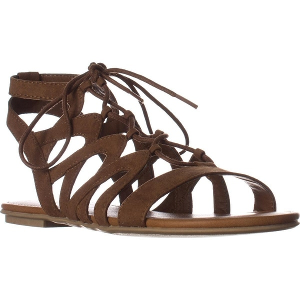 AR35 Marlie Flat Lace-Up Sandals, Maple