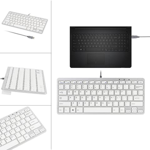 Ultra Thin Slim 78 Key Wired USB Mini PC Keyboard for PC Apple Mac Laptop